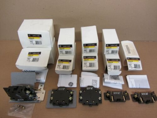 Lot of 9 GE General Electric Various NO/NC Aux Contacts for Size 0 - 9 Contactor