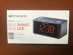 Emerson ER100201 Alarm Clock Radio with Bluetooth, Phone Charging Station