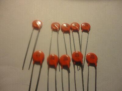 10pcs Sprague 100pf-1kv U2j Ceramic Disc Capacitor