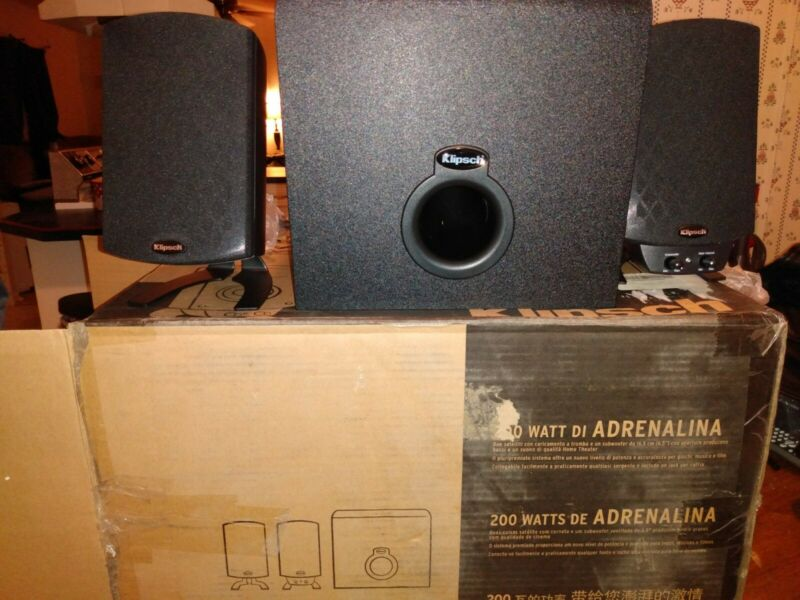 Klipsch ProMedia 2.1 THX Computer Laptop Speakers Subwoofer System
