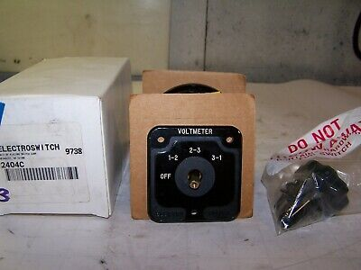 New Electroswitch Series 24 Rotary Switch 2 Hp 240480 Vac 2404c