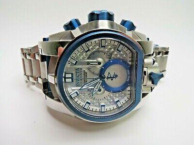 Invicta Reserve Bolt Zeus Magnum Watch 20112 Dual Time Chronograph Blue