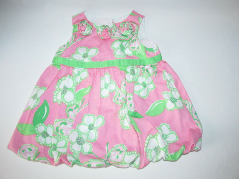 Lilly Pulitzer Baby Girl Dress Pretty Pink Tootie Size 12-18 Months