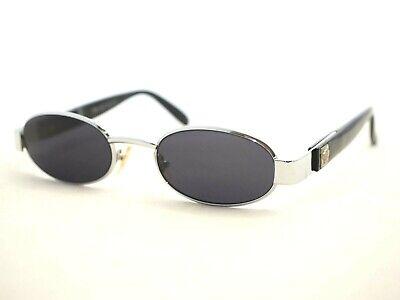 389bd9a312461 Gianni Versace 532 sunglasses vintage silver oval small gray black medusa  head