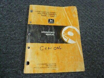 John Deere 310se 315se Backhoe Loader Owner Operator Manual Omt184377