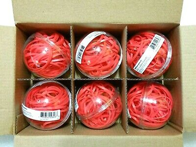 Office Depot Rubber Band Balls - Sz 32 Coral Colored Part 414-453 Qty 2 4 Or 6