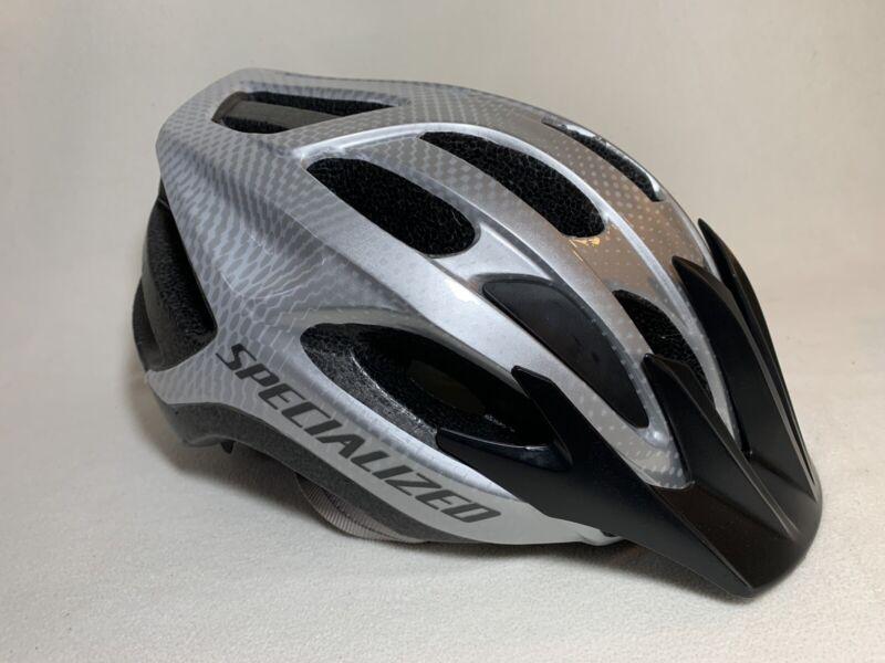Specialized Align Cycling Bike Helmet Adult 54-62cm Black Silver Removable Visor