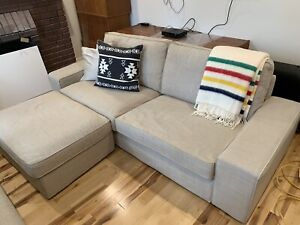 Ikea Kivik Love Seat & Footstool with storage