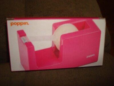 Poppin Desktop Pink Dispenser 34 Inch Tape