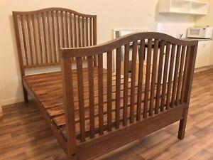 Hardwood Bed & Mattress