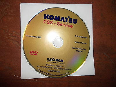 Komatsu Skid Steer Loader Backhoe Service Shop Repair Manual Cd
