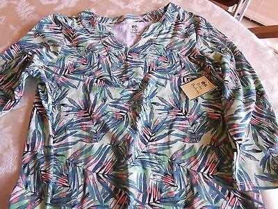 Bealls Palm Harbour Long Sleeve Jungle Leaf Print Shirt   Small   Nwt