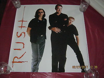 Rush 2002 Ultra RARE Vapor Trails era Poster photo by Andrew MacNaughtan