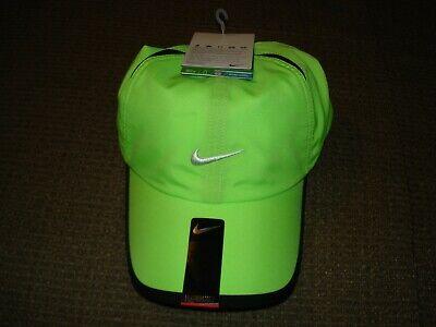 fbf5d52b55c95 NWT Nike Feather Light Cap Hat Dri-Fit Tennis 595510-366 Lime
