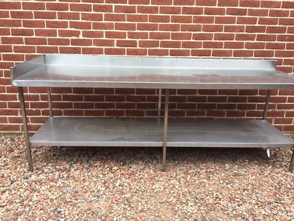 Commercial stainless restaurant/cafe bench