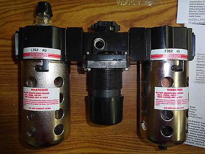 Arrow Pneumatics Tri Star 14 Filter Regulator Lubricator Combination 33352