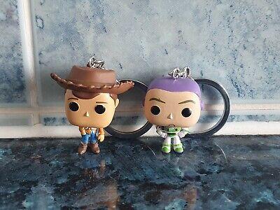 FUNKO TOY STORY 4 SHERIFF WOODY & BUZZ LIGHTYEAR POCKET POP! KEYCHAIN