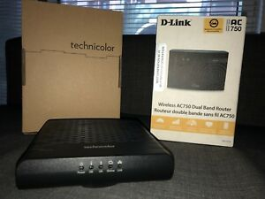 Technicolor TC4350 cable modem and D-Link AC750 Dual band router