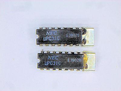 """UPC31C """"Original"""" NEC 14P DIP IC with Heat Sink Tab 2 pcs"""