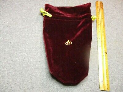 "VINTAGE ""CROWN ROYAL""?? FABRIC BAG/BURGUNDY COLOR, DRAWSTRING BAG/EXCELLENT"