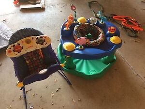 Two baby chairs activity centers