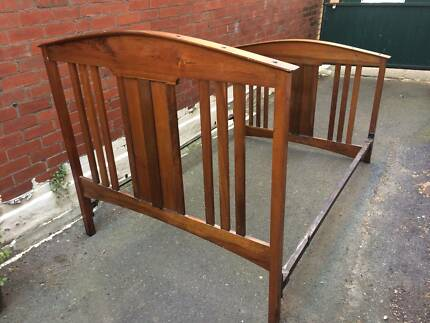 Beautiful Antique 1920s Double Bed Frame