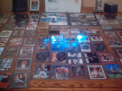 HUGE SPORTS CARD COLLECTION LOT AUTO GAME USED JERSEY ROOKIE INSERT GRADED SET
