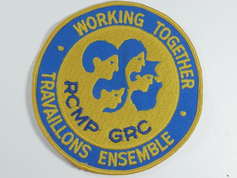 Obsolete RCMP working together GRC Police Patch Badge Canada Canadian Insignia
