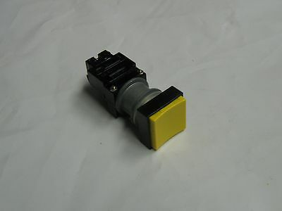 General Electric Yellow Square Push Button, CR104 G, Used, Warranty