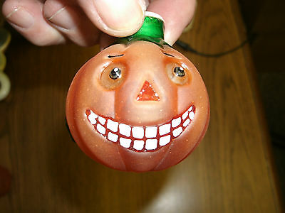 Glass Pumpkin Miniature Light Bulb Cover
