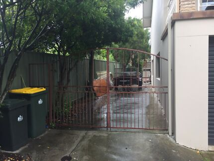 Solid steel double gate and side