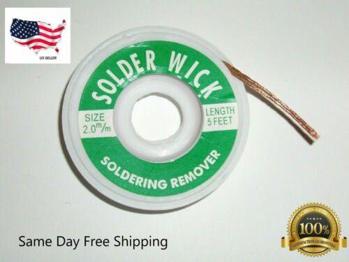 2.0 mm Desoldering Braid Solder Remover Copper Wick Spool Wire Cable 1.5m USA