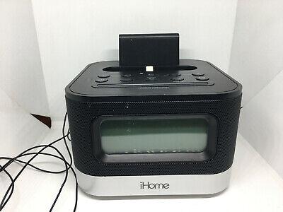 iHome IPL10 FM Radio Alarm Clock Speaker W/ Lighting Dock for iphone + a Charger