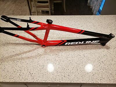 """Redline BMX Proline Pro 24"""" Red Aluminum Alloy race bike frame 21.8"""" top tube"""