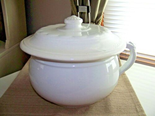 1906 MADDOCK & CO. Royal Stone China Chamber Pot w/ Lid (Nice Condition!)