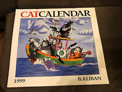 1999 B Kliban Cat Calendar