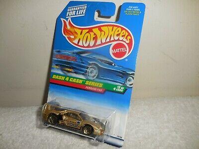 1998 HOT WHEELS DASH 4 CASH SERIES GOLD FERRARI F40  # 722