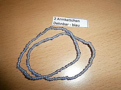 2 süße Armbänder - dehnbar - hellblau - NEU