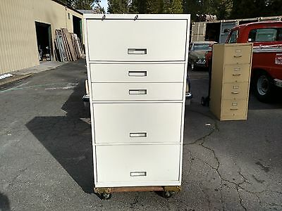 File Cabinet 5 Drawer Lateral 3 File 2 Card Drawers Shaw Walker Wedeliverlocally