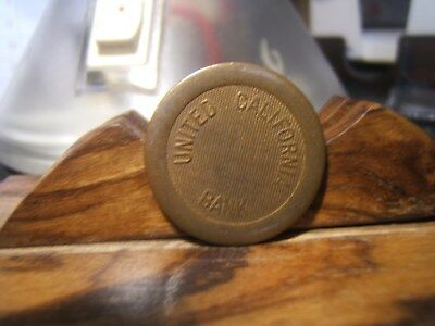 UNITED CALIFORNIA BANK Unlisted PARKING TOKEN  LOS ANGELES