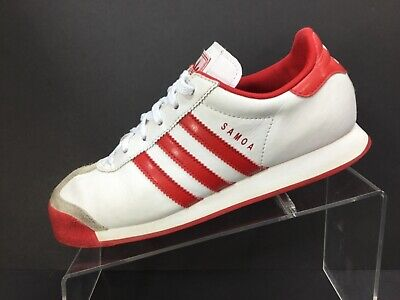 Adidas Samoa Kids White Red Casual Shoes Boys Girls Size 6 Excellent