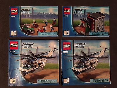 Lego City 60046 Instruction Manuals Books #1-4 Manuals ONLY for sale  West Chester