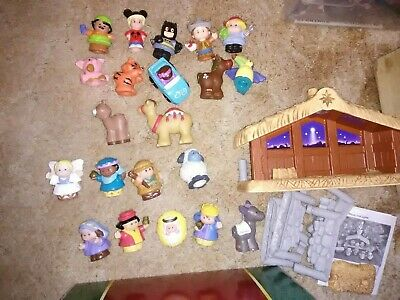Lot of 20 Fisher Price Little People 2002 Christmas Nativity Scene BATMAN + MORE