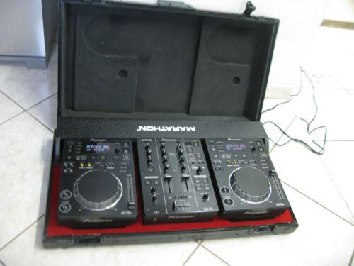 Pioneer CDJ-350 DJ Digital Multimedia Deck (Pair) & DJM 350 Mixer With Case
