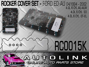 RUBBER-ROCKER-COVER-GASKET-KIT-SUIT-FORD-FALCON-AU-1-2-3-6CYL-4-0L-WAGON-x1