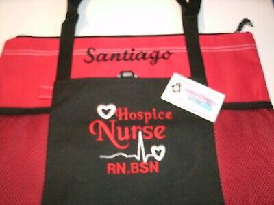 Hospice Health Nurse Personalized Tote Bag LPN, RN, CNA, HHA, QMA, BSN  Bag Health Tote Bag