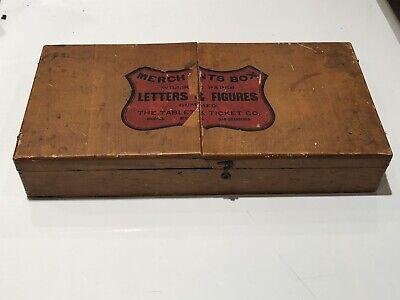 Willson's Paper Letters & Figures Merchant Box Antique Vintage