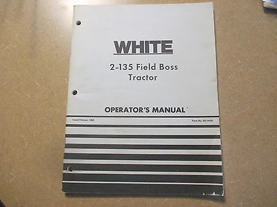 White 2-135 2 135 Tractor Owners Maintenance Manual