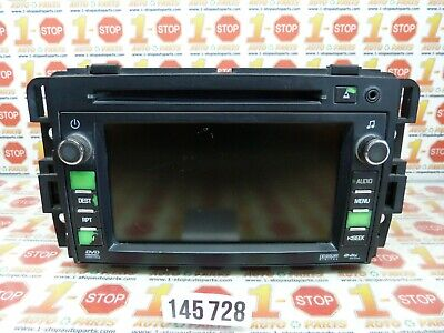 09 10 CHEVROLET TRAVERSE RADIO DVD GPS NAVIGATION INFO SCREEN DISPLAY 20789652