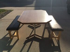 Kitchen table with bench seats
